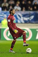 FOOTBALL - FRENCH CUP 2011/2012 - 1/16 FINAL - SABLE FC v PARIS SAINT GERMAIN - 20/01/2012 - PHOTO PASCAL ALLEE / DPPI - SALVATORE SIRIGU (PSG)