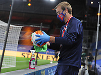 Football - 2019 / 2020 Premier League - Crystal Palace vs Burnley<br /> <br /> The ball is cleaned after going out of play, at Selhurst Park<br /> <br /> COLORSPORT/ANDREW COWIE