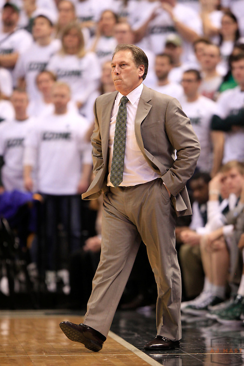 28 December 2011: Michigan State Spartans head coach Tom Izzo as the Indiana Hoosiers played the Michigan State Spartans in a college basketball game in East Lansing, Mich.
