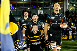 Anton Bresler of Worcester Warriors and Ethan Waller of Worcester Warriors - Mandatory by-line: Robbie Stephenson/JMP - 17/01/2020 - RUGBY - Sixways Stadium - Worcester, England - Worcester Warriors v Castres Olympique - European Rugby Challenge Cup