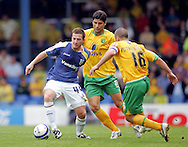 Cardiff - Saturday August 23rd, 2008: Ross McCormack of Cardiff City and Mark Fotheringham of Norwich City during the Coca Cola Championship match at The Ninian Park, Cardiff. (Pic by Paul Hollands/Focus Images)