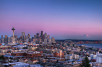 Downtown Seattle & Mount Rainier @ Dusk
