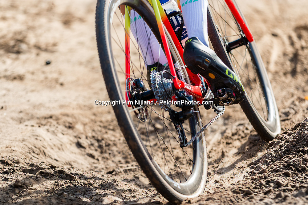 Specialized CX bike of Tom PIDCOCK (GBR) during the Men Elite race at the 2018 Telenet Superprestige Cyclo-cross #1 Gieten, UCI Class 1, Gieten, Drenthe, The Netherlands, 14 October 2018. Photo by Pim Nijland / PelotonPhotos.com | All photos usage must carry mandatory copyright credit (Peloton Photos | Pim Nijland)