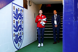 Jodie Taylor of England walks out on to the pitch before the match - Mandatory by-line: Matt McNulty/JMP - 19/09/2017 - FOOTBALL - Prenton Park - Birkenhead, United Kingdom - England v Russia - FIFA Women's World Cup Qualifier