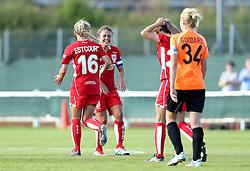 Bristol City Women celebrate Jodie Brett's opening goal against London Bees - Mandatory by-line: Robbie Stephenson/JMP - 23/07/2016 - FOOTBALL - Stoke Gifford Stadium - Bristol, England - Bristol City Women v London Bees - FA Women's Super League 2