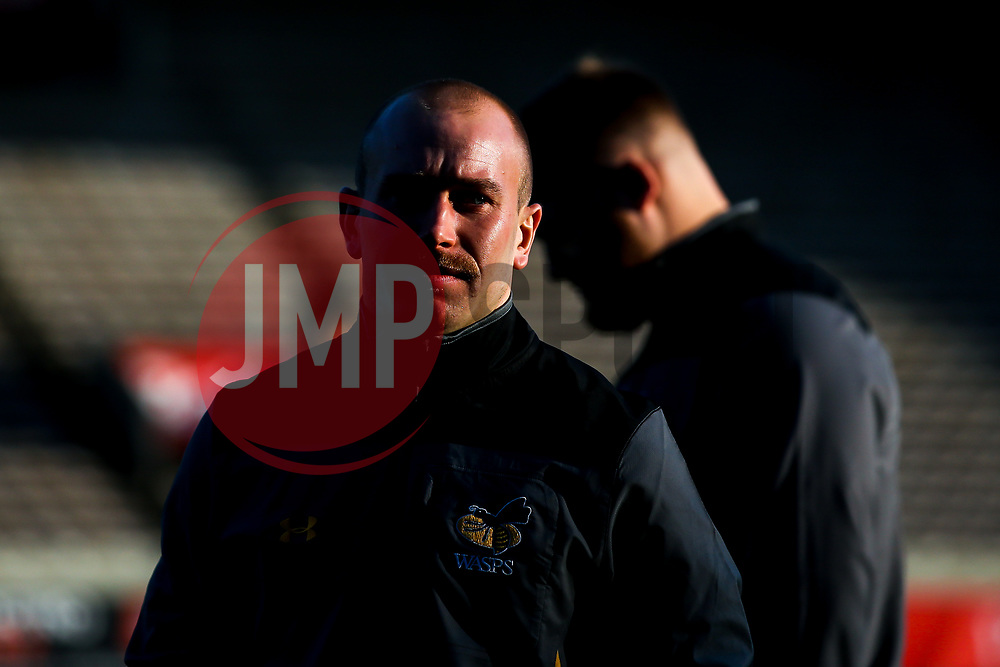 Dan Robson of Wasps arrives at The State Jacques Chaban-Delmas, home of Bordeaux-Begles - Mandatory by-line: Robbie Stephenson/JMP - 15/11/2019 - RUGBY - Stade Jacques Chaban-Delmas - Bordeaux,  - Bordeaux-Begles v Wasps - European Rugby Challenge Cup