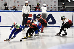 February 8, 2019 - Torino, Italia - Foto LaPresse/Nicolò Campo .8/02/2019 Torino (Italia) .Sport.ISU World Cup Short Track Torino - 500 meter Ladies Preliminaries.Nella foto: Martina Valcepina guida il gruppo..Photo LaPresse/Nicolò Campo .February 8, 2019 Turin (Italy) .Sport.ISU World Cup Short Track Turin - 500 meter Ladies Preliminaries.In the picture:  Martina Valcepina leads the pack (Credit Image: © Nicolò Campo/Lapresse via ZUMA Press)