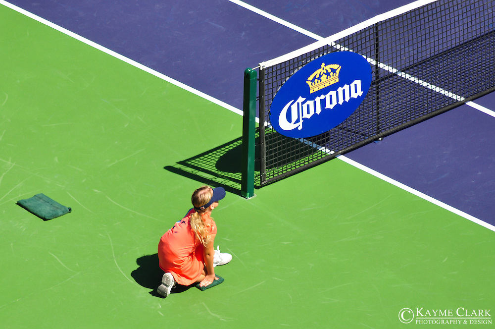 Ball girl at the BNP Paribas Open in Indian Wells, California.