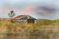 Farmhouse amid a field on the island of Skye, Scotland.