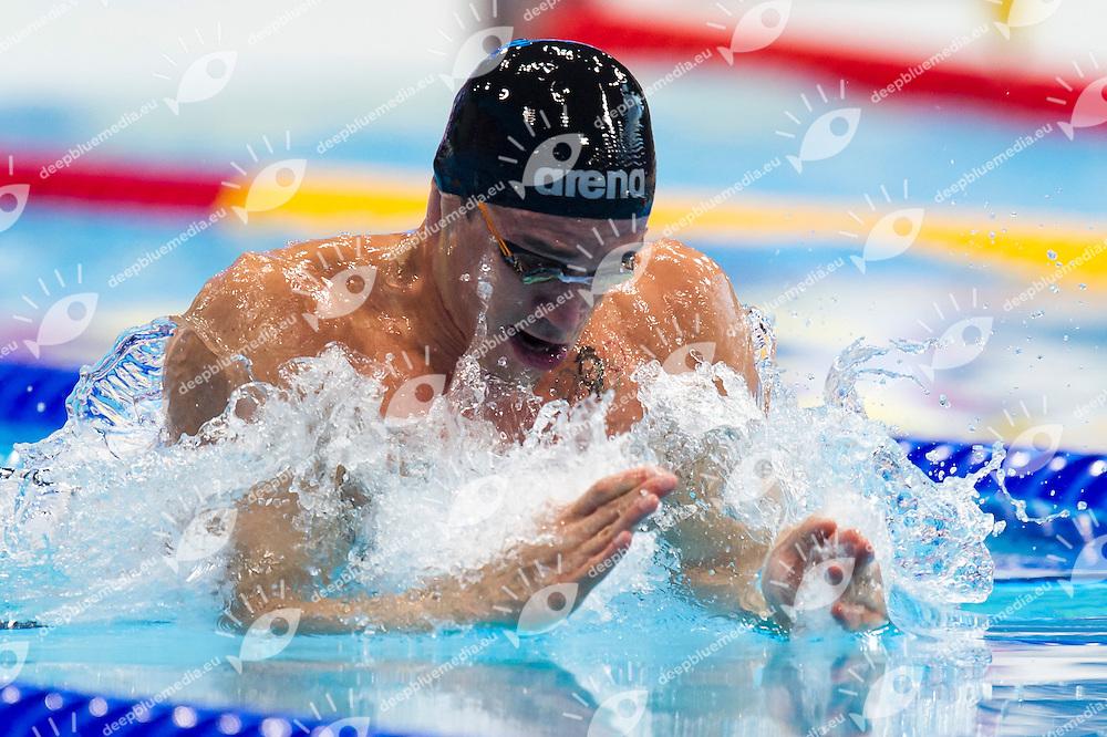 SCOZZOLI Fabio ITA<br /> London, Queen Elizabeth II Olympic Park Pool <br /> LEN 2016 European Aquatics Elite Championships <br /> Swimming<br /> Men's 50m breaststroke semifinal<br /> Day 12 20-05-2016<br /> Photo Giorgio Perottino/Deepbluemedia/Insidefoto