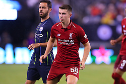 July 25, 2018 - East Rutherford, NJ, U.S. - EAST RUTHERFORD, NJ - JULY 25:  Liverpool forward Ben Woodburn (58) during the second half of the International Champions Cup Soccer game between Liverpool and Manchester City on July 25, 2018 at Met Life Stadium in East Rutherford, NJ.  (Photo by Rich Graessle/Icon Sportswire) (Credit Image: © Rich Graessle/Icon SMI via ZUMA Press)