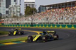 March 16, 2019 - Melbourne, Australia - Motorsports: FIA Formula One World Championship 2019, Grand Prix of Australia, ..#3 Daniel Ricciardo (AUS, Renault F1 Team), #27 Nico Hulkenberg (GER, Renault F1 Team) (Credit Image: © Hoch Zwei via ZUMA Wire)