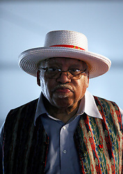 02 May 2010. New Orleans, Louisiana,  USA. <br /> New Orleans Jazz and Heritage Festival. JazzFest.<br /> Legendary Jazz pianist Ellis Marsalis plays the Jazz tent.<br /> Ellis Marsalis passed away April 1st 2020 of complications associated with Coronavirus - COVID-19.<br /> Photo ©; Charlie Varley/varleypix.com