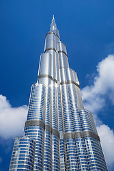 View of Burj Khalifa skyscraper in Dubai United Arab Emirates