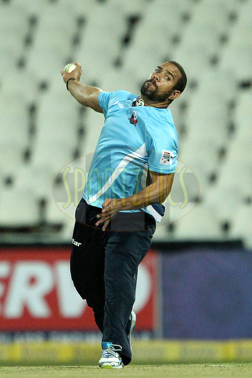 Andre Adams during 2nd Qualifying match of the Karbonn Smart CLT20 South Africa between Auckland Aces and Sialkot Stallions held at The Wanderers Stadium in Johannesburg, South Africa on the 9th October 2012..Photo by Ron Gaunt/SPORTZPICS/CLT20