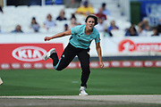 Natalie Sciver of Surrey Stars bowling during the Women's Cricket Super League match between Southern Vipers and Surrey Stars at the 1st Central County Ground, Hove, United Kingdom on 14 August 2018.
