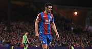 Scott Dann in action during the Barclays Premier League match between Crystal Palace and Southampton at Selhurst Park, London, England on 12 December 2015. Photo by Michael Hulf.