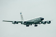 A US Air Force RC-135 on its approach in to RAF Mildenhall on 10 June 2020.