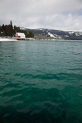 """Boat Dock on Lake Tahoe 4""- This old boat dock was photographed on the west shore of Lake Tahoe, CA."