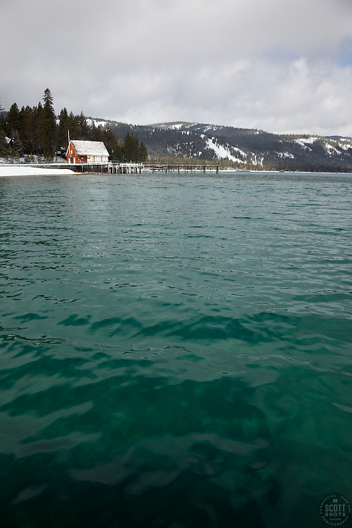 """""""Boat Dock on Lake Tahoe 4""""- This old boat dock was photographed on the west shore of Lake Tahoe, CA."""