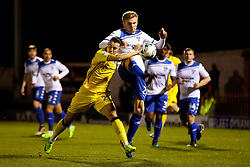 Taylor Moore of Bury is challenged by Billy Bodin of Bristol Rovers - Mandatory by-line: Matt McNulty/JMP - 14/03/2017 - FOOTBALL - Gigg Lane - Bury, England - Bury v Bristol Rovers - Sky Bet League One