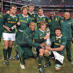 The Sharks Springboks with the 2009 Lions Series Trophy.<br /> during the British and Irish Lions tour 2009