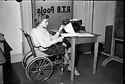 Disabled People Feature..1962..08.01.1962..01.08.1962..8th January 1962. ..The organisation was set up as the Rehabilitation Institute in 1949 to support people recovering from TB to rebuild their lives, to regain their independence and to re-enter the workforce following their illness.In the early years, it focused on providing training services to support people to enter or to re-enter the workforce..Throughout its history, it has developed considerable skills and resources in meeting the needs of people who need specific supports to live the lives that they want to live.Rehab has since expanded its focus to include all people with disabilities and others who are marginalised and, in all, hundreds of thousands of people and their families have benefitted from the services provided by the organisation over the years.From humble beginnings in a one room centre in Pleasants Street in Dublin providing a service to ten people followed by expansion to two additional centres in Cork and Limerick in 1952, Rehab now provides services in more than 200 locations throughout Ireland...Series of images shows some of the trainees getting valuable work experience whilst under the watchful eyes of their tutors.