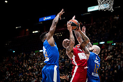 December 29, 2017 - Assago, Milan, Italy - Jordan Theodore (#25 AX Armani Exchange Milan) shoots a layup during a game of Turkish Airlines EuroLeague basketball between  AX Armani Exchange Milan vs Crvena Zvzda Mts Belgrade at Mediolanum Forum in Milan, Italy, on 29 december 2017. (Credit Image: © Roberto Finizio/NurPhoto via ZUMA Press)