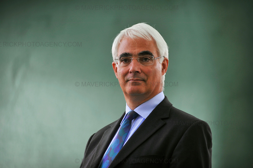 EDINBURGH, UK - 17th August 2010:  Portrait session former Chancellor Alistair Darling at the Edinburgh International Book Festival.  Mr Darling will speak tonight at the Donald Dewar Memorial Lecture which will be held at the festival and is thought to comment on his relationship with former Prime Minister Gordon Brown and recent events during the general election. (Photograph: Callum Bennetts/MAVERICK)