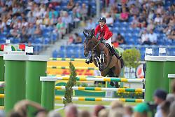 Hugyecz, Mariann (HUN), Never Last<br /> Aachen - Europameisterschaften 2015<br /> Springen 1. Qualifikation Teamwertung<br /> © www.sportfotos-lafrentz.de/Stefan Lafrentz
