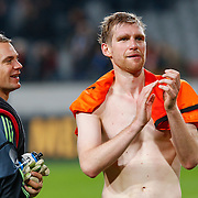 NLD/Amsterdam/20121114 - Vriendschappelijk duel Nederland - Duitsland, keeper Manuel Neuer en Per Mertesacker