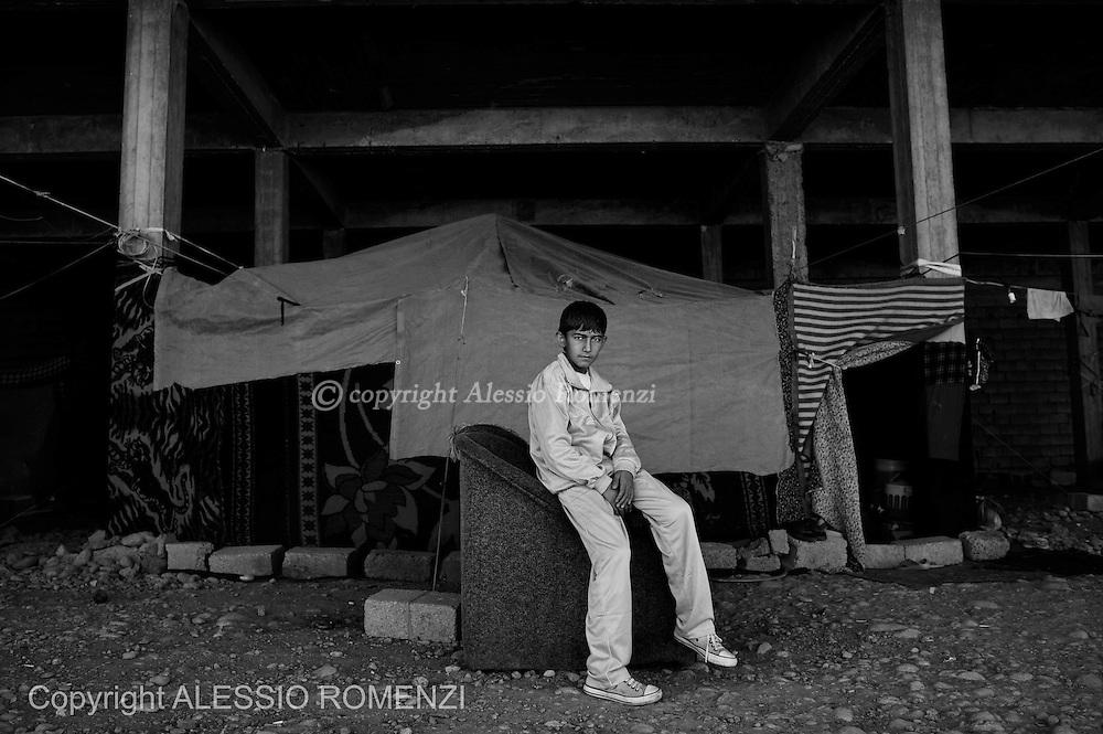 Iraqi Kurdistan: Urban Syrian refugees in Erbil outskirts. ALESSIO ROMENZI