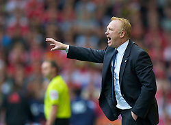 LIVERPOOL, ENGLAND - Saturday, April 23, 2011: Birmingham City's manager Alex McLeish during the Premiership match against Liverpool at Anfield. (Photo by David Rawcliffe/Propaganda)