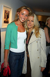Left to right, NOELLE RENO and LOUISE BARTHEZ at a party to celebrate the opening of an exhibition of photographs by the late Norman Parkinson held at Hamiltons gallery, 13 Carlos Place, London W1 on 14th September 2004.<br />