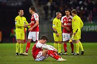 Deception Nicolas DE PREVILLE - 25.01.2015 - Reims / Lens  - 22eme journee de Ligue1<br />Photo : Dave Winter / Icon Sport