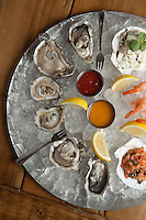 A selection of raw bar seafood at Coastal Bistro in St. Louis.