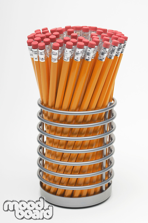 New pencils in container