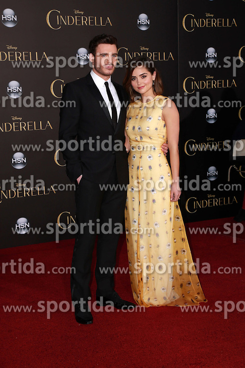 Richard Madden, Jenna Coleman. EXPA Pictures &copy; 2015, PhotoCredit: EXPA/ Photoshot/ Martin Sloan<br /> <br /> *****ATTENTION - for AUT, SLO, CRO, SRB, BIH, MAZ only*****