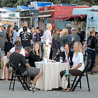 Hundreds of people eat at California Heritage Museum's Food Truck Lot on Tuesday, June 7, 2011. The Food Truck Lot is open every Tuesday night from 5:30 to 10 p.m.