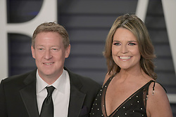 February 24, 2019 - Beverly Hills, California, U.S - Michael Feldman and Savannah Guthrie on the red carpet of the 2019 Vanity Fair Oscar Party held at the Wallis Annenberg Center in Beverly Hills, California on Sunday February 24, 2019. JAVIER ROJAS/PI (Credit Image: © Prensa Internacional via ZUMA Wire)