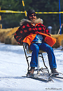 Barstool Races during Cabin Fever Days in Martin City Montana