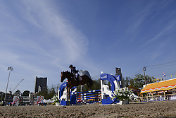 November 25, 2017 - Bangkok, Bangkok, Thailand - The competition leap over an obstacle in the RSU lead rein jumping match during the Princess's Cup Thailand 2017 at the Royal Stable unit in Bangkok, Thailand. 25 November 2017  (Credit Image: © Anusak Laowilas/NurPhoto via ZUMA Press)