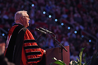 Chancellor Randy Woodson welcomes everyone to 2017 Winter Commencement in PNC Arena.