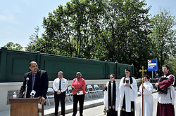 Acting Streets Commissioner Michael Carroll speaks at the ribbon cutting ceremony on Wednesday. (Bastiaan Slabbers for NewsWorks)