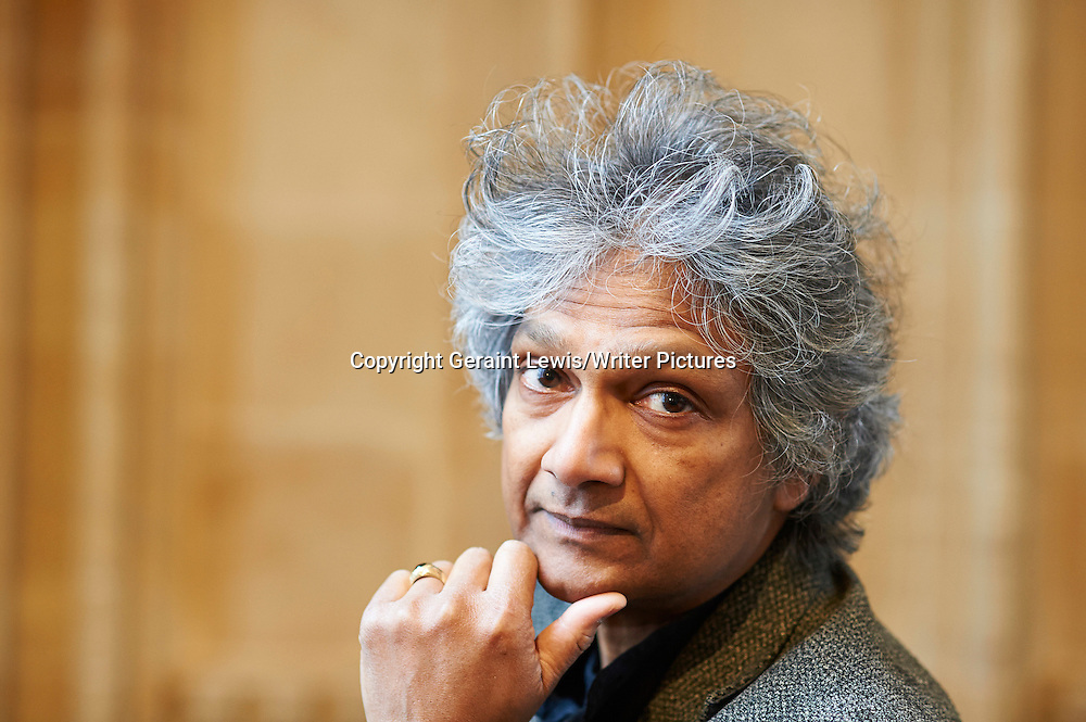Romesh Gunesekera at  Bodleian Divinity School, Oxford  Literary Festival<br /> 17th March 2013<br /> <br /> Photograph by Geraint Lewis/Writer Pictures<br /> <br /> <br /> WORLD RIGHTS