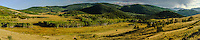 Grassland and forest,Rocky Mountain foothills in summer; Fremont County Rd 12, Colorado