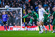 Sheffield Wednesday forward Sam Winnall (11) and Leeds United midfielder Kalvin Phillips (23) in action during the EFL Sky Bet Championship match between Leeds United and Sheffield Wednesday at Elland Road, Leeds, England on 11 January 2020.