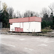 Shuttered gas station, Kinmount, Ontario.