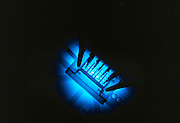 Cerenkov radiation glow from test reactor at Los Alamos Laboratory, New Mexico.