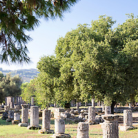 The UNESCO World Heritage Site of Ancient Olympia is a site on Greece's Peloponnese peninsula that hosted the original Olympic Games, founded in the 8th century B.C. Its extensive ruins include athletic training areas, such as the ruins of the gymnasium (pictured here), a stadium, and temples dedicated to the gods Hera and Zeus.